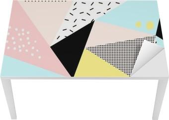 Tischaufkleber und Schreibtischaufkleber Geometrische memphis background.Retro Design für die Einladung, Visitenkarte, Poster oder Banner.