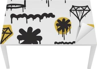 Tischaufkleber und Schreibtischaufkleber Graffiti nahtlose Muster