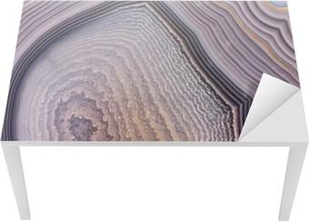Tischaufkleber und Schreibtischaufkleber Grau Achat Struktur dunklen Hintergrund