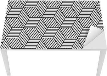 Tischaufkleber und Schreibtischaufkleber Nahtlose geometrische Muster mit Würfeln.
