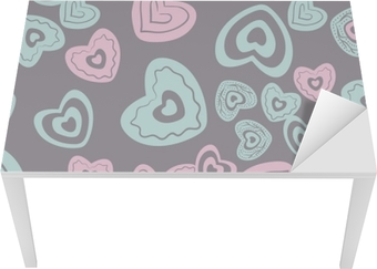 Tischaufkleber und Schreibtischaufkleber Nahtlose Herzmuster