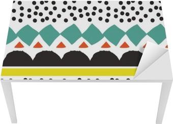 Tischaufkleber und Schreibtischaufkleber Nahtlose Muster mit grafischen geometrischen Elementen