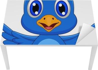 Leinwandbild Netter blauer Vogel-Cartoon • Pixers® - Wir leben, um ...