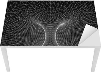 Leinwandbild Geometrie, Mathematik und Perspektive Drahtmodell ...
