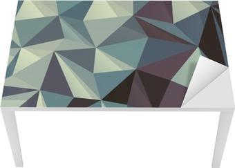 Tischaufkleber und Schreibtischaufkleber Triangle Abstrakte geometrische Muster