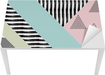 Tischaufkleber und Schreibtischaufkleber Zusammenfassung Hand gezeichnet geometrische Muster