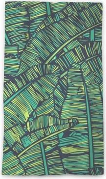 Transparant gordijn Banaan bladeren patroon