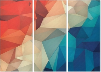 Tríptico Abstract geometric low poly background.