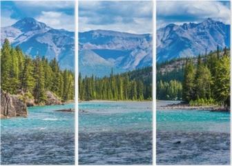 Tríptico Arco, río, banff, alberta, canadá