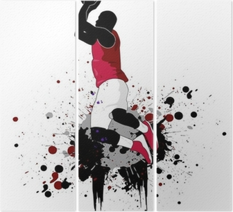 Tríptico Basketball player