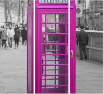 Tríptico Cabine de telefone em Londres