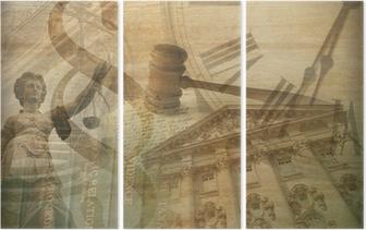 Tríptico Collage de justicia