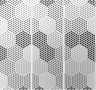 Tríptico Hexagon Pattern Illusion