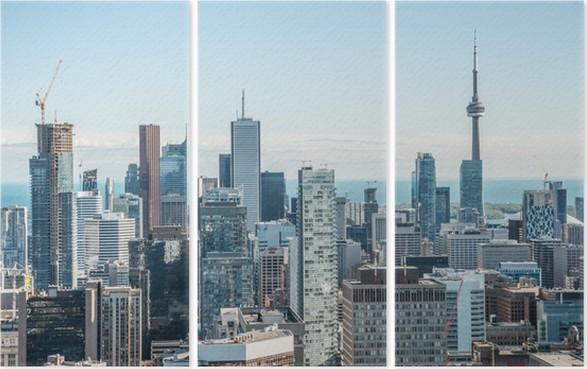 Tríptico Scenic view of downtown Toronto - América
