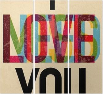 Tríptico Tipo de texto caligráfico Día de San Valentín