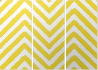 Tríptico Vector chevron yellow seamless pattern
