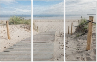 A path to the beach Triptych