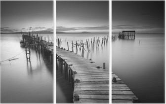 A peaceful ancient pier Triptych