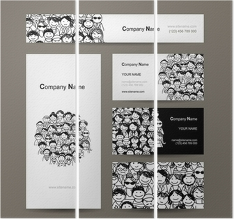 Business cards collection people crowd design wall mural pixers business cards collection people crowd design wall mural pixers we live to change reheart Gallery