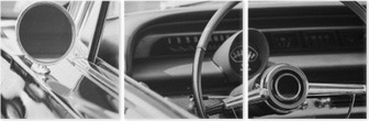 Classic car Triptych