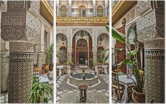 Moroccan Interior Triptych