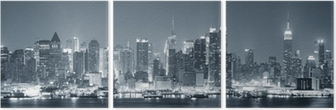 New York City Manhattan black and white Triptych