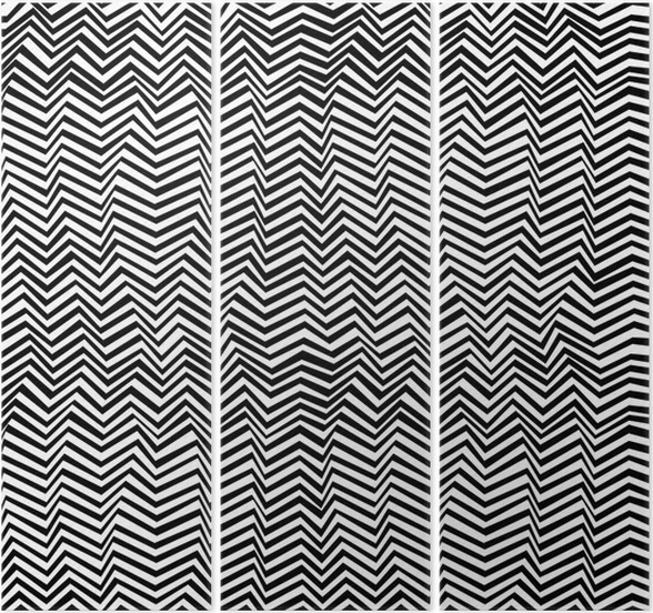 Seamless Abstract Black And White Pattern Triptych