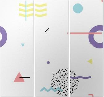 seamless background 80s Triptych
