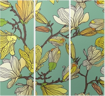 Seamless floral texture Triptych