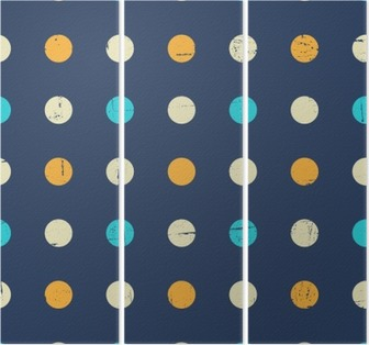 Seamless Polka Dot Pattern Triptych