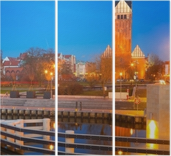 St. Nicholas Cathedral in old town of Elblag, Poland Triptych