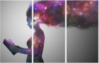 Universe woman Triptych
