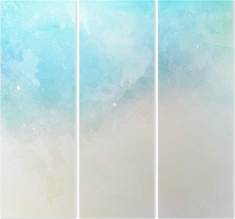 Watercolor texture background Triptych