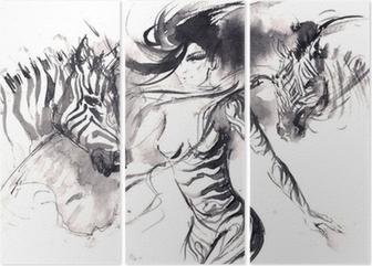 zebra Triptych