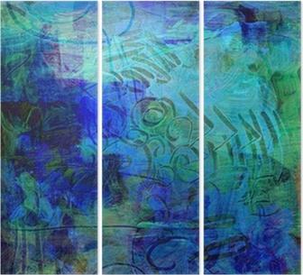 Triptychon Acrylfarben auf holzplatte