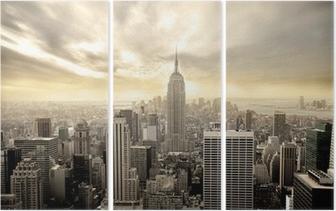 Triptychon Bewölkter Himmel über Manhattan