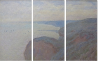Triptychon Claude Monet - Klippen von Dieppe