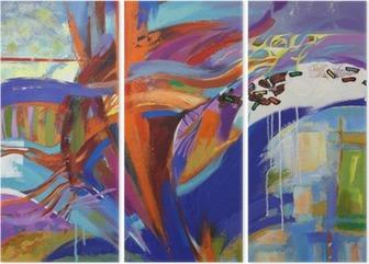 Triptychon Die Kunst der Abstraktion