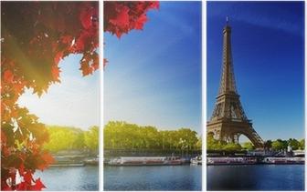Triptychon Farbe des Herbstes in Paris