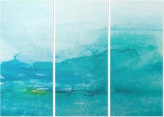 Triptychon Farbstriche Aquarell, Malerei, Kunst