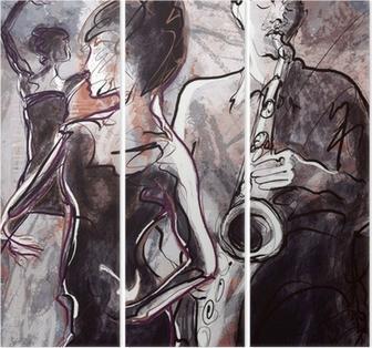 Triptychon Jazz-Band mit Tänzern