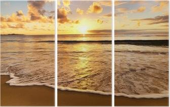 Triptychon Sonnenuntergang am Strand