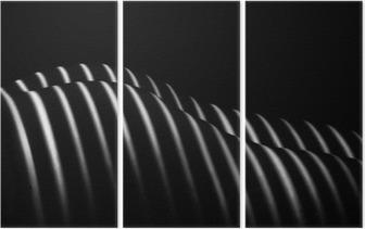 Triptychon Tarnow, Polen - Frabruary 04, 2016: Ein Blick auf blac