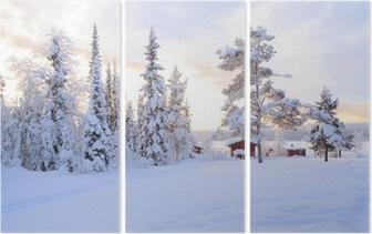 Triptychon Winter landschaft