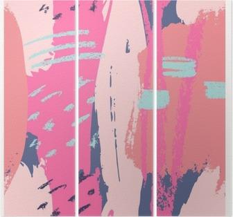 Triptych Håndlaget abstrakt design