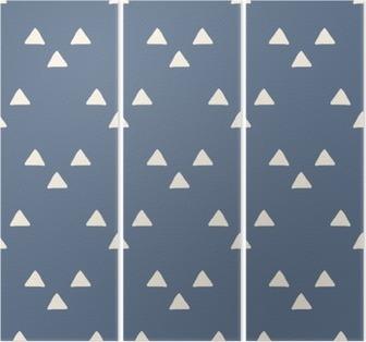 Triptych Sømløs japansk mønster