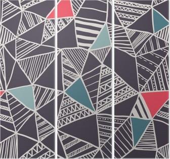 Triptych Abstraktní bezešvé doodle vzor