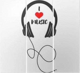 Triptych I love music