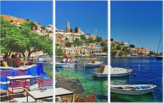 Triptych Řecké svátky. Ostrov Symi