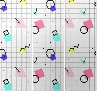 Triptyk Seamless geometriskt mönster
